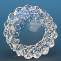Vintage EAPG Pressed Glass Open Salt Diamond Point Sawtooth image 3
