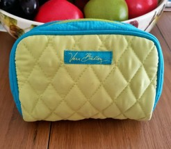 Vera Bradley Lime and Turquoise Zippered Cosmetic or Other Essentials Bag - $21.99