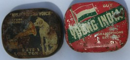 HMV Young India Gramophone Vintage ORIGINAL Needles Tins Lot - $47.52