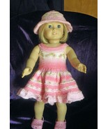 Hand Knit Pink Variegated Strip Sun Dress and H... - $35.00