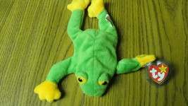 TY Beanie Baby Smoochy Frog with tags and plastic cover - $3.82