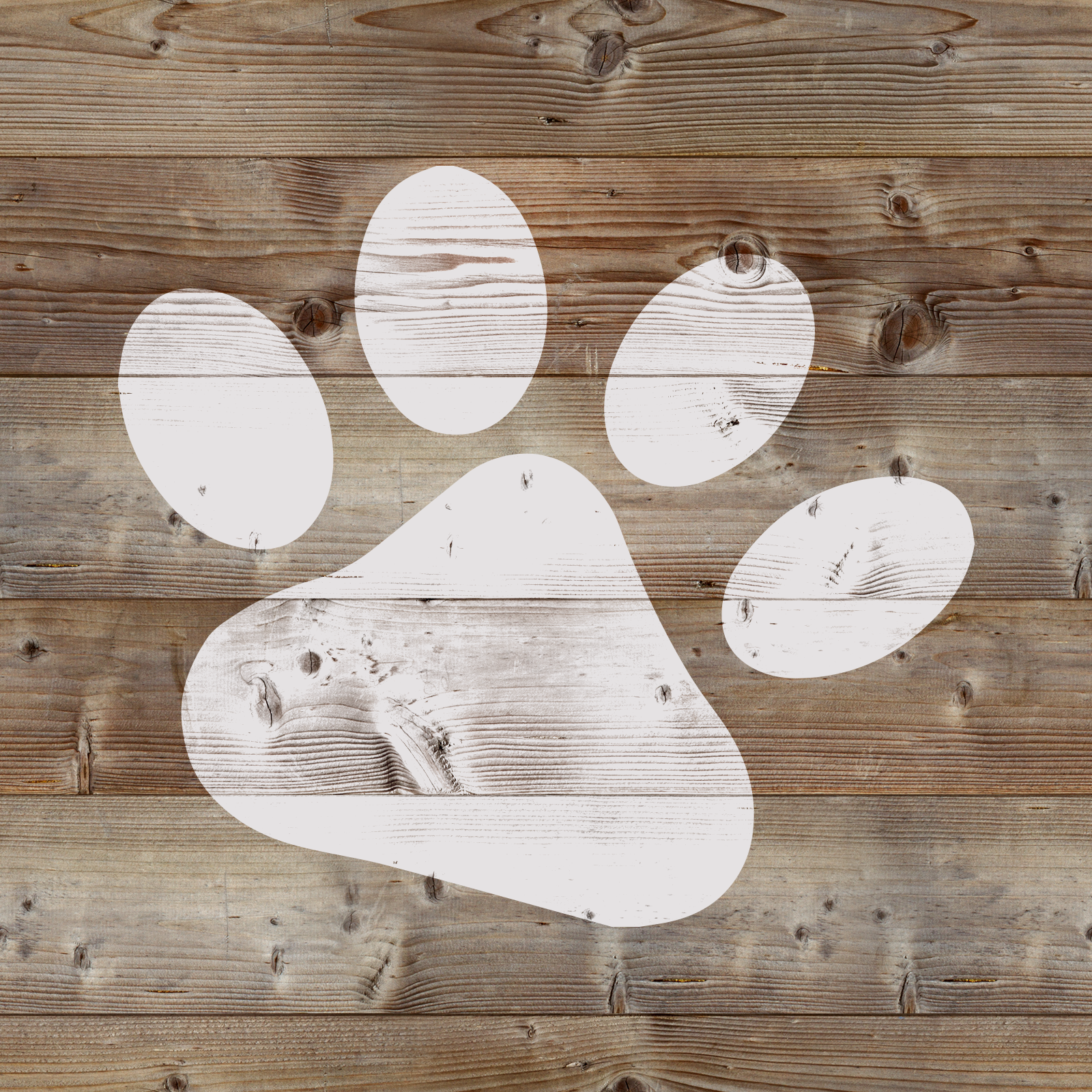 Dog Paw Stencil - Reusable Stencil of Animal Paw Print in Small & Large Sizes