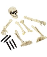 Amscan Creepy Cemetery Halloween Party Escaping Skeleton Yard Stake Deco... - $24.30