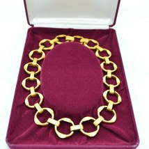 Camrose Kross JBK Brushed Gold Tone Chain Link Statement Necklace COAs - $98.99