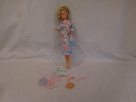 Pregnant Karen Doll Barbie sized white Skin with Accessories Vintage - $27.02