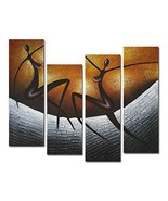 Wieco Art African Dancers Large Modern Stretched and Framed 100% Hand Pa... - $63.07