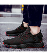 Size 48 Damping Vulcanize Shoes Men Letters Design Mesh Sneakers Male Ou... - $28.60+