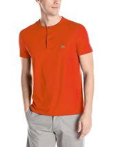 New Lacoste Men's Short Sleeve Henley Jersey Pima Cotton Regular Fit T-Shirt image 6