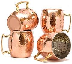 Rastogi Handicrafts Barrel Hammered Copper Moscow Mule Mug, 18 Oz - Hand... - $44.55