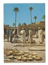 North Africa Maroc Morocco Pottery Market Vintage Postcard 4X6 - $3.99