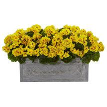 """18"""" Geranium Artificial Plant in Stone Planter UV Resistant (Indoor/Outd... - $139.95"""