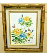 BUTTERFLIES WITH FLOWERS SIGNED / BY C.K. CHAN  (CHIT KING CHAN) - $149.95