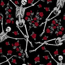 Too Fast Bed Of Roses Esqueletos Calaveras Punk Gótico Floral Vestido Skater image 6