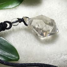 Natural Clear Quartz Crystal Specimen Point Pendant Reiki Healing J032520 - $9.85