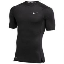 Nike Pro Compression Short Sleeve Dri-FIT Training Shirt Men's L Black C... - $34.64