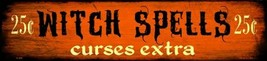"Witch Spells Halloween Metal Mini Street Sign 4"" x 18"" Wall Decor - DS - $23.95"