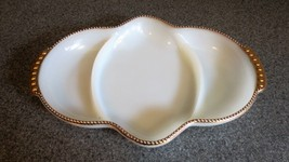 Fire King Oven Ware Gold Trimmed Divided Dish - $12.19