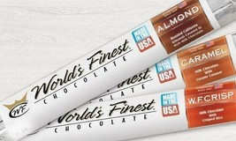 WORLD'S FINEST CHOCOLATE Almond,Caramel,WF Crisp 24 Total x $2.00 Each Bars - $47.99
