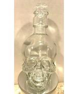 Halloween Glass Skull Bottle Decanter Whiskey Vodka any Liquor Holiday D... - $29.99