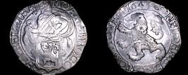 1643 Netherlands Utrecht 1 Lion Daalder World Silver Coin - $599.99