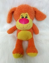 "14"" Puppy Dog Yellow Orange Sherpa Fleece Soft Lovey Stuffed Animal Toy ... - $14.99"