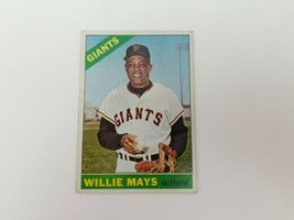 1966 Topps Willie Mays Baseball Card #1 San Francisco Giants HOF VG FREE... - $78.17