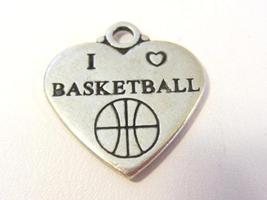 Sterling silver 925 i love basketball pendant - $6.00