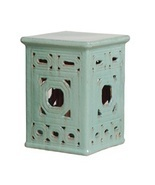 AQUA SQUARE, Ceramic Garden STOOL Side End TABL... - $249.00