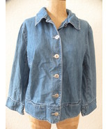 Ann Taylor Jeans Jacket  ~ Light Denim Cool  Si... - £23.73 GBP