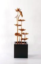 Fountain-Zinc Metal Lotus Fountain--Garden Decor, Home Decor, Handmade Art - $568.32