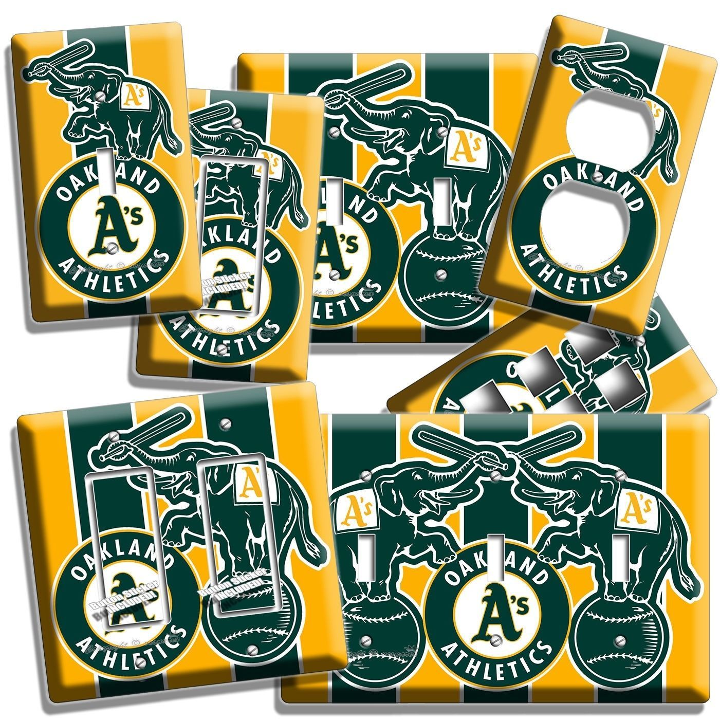 Primary image for A'S OAKLAND ATHLETICS BASEBALL TEAM LIGHT SWITCH OUTLET WALL PLATE COVER DECOR