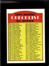1972 TOPPS #478 CHECKLIST 526-656 VG+  *X01263 - $2.72