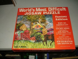 World's Most Difficult Jigsaw Puzzle Love Is Blind Two Sided 529 Pieces ... - $17.81