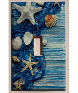 Fishnet Seashells Starfish Ocean Light Switch Outlet Wall Cover Plate Ho... - $3.00+