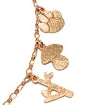 925 Silver Bracelet, Rabbit, Squirrel, Deer, Hedgehog, Owl, le Favole image 3