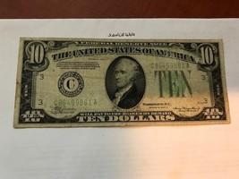 United States Hamilton $10 circulated banknote 1934 A #9 - $19.95
