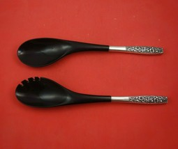 Contessina by Towle Sterling Silver Salad Serving Set 2pc with Ebony 12 ... - $107.91