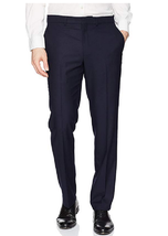 Kenneth Cole REACTION Men's Techni-Cole Stretch Slim Fit Pants, Navy, 42x32 - $49.49