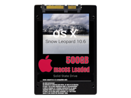 macOS Mac OS X 10.6 Snow Leopard Preloaded on 500GB Solid State Drive - $99.99