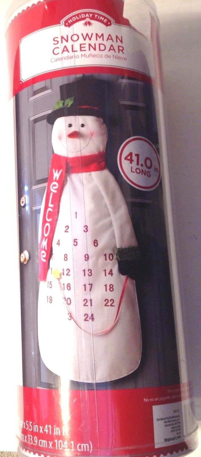 Advent Calendar Countdown To Christmas Snowman New  - $19.75