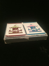 """Vintage Russell Gladstone Double Playing Card Boxed set- """"Carousels"""" image 5"""