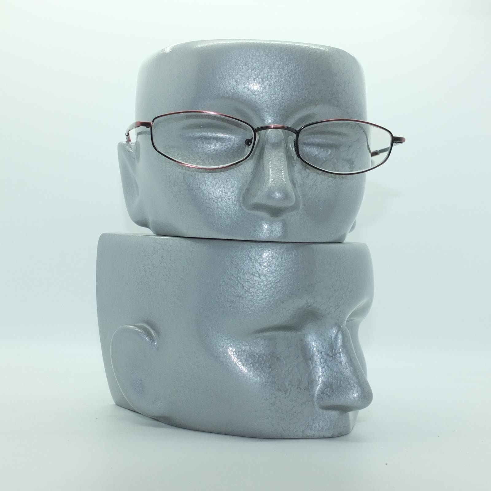 Reading Glasses Bronze Metal Oval Octagon Narrow Hip +3.00 Lens Strength image 3
