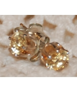 Avon Citrine Sterling Silver Posts Earrings - $6.00