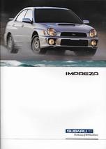2003 Subaru IMPREZA brochure catalog 03 US WRX 2.5 RS TS - $10.00