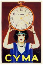 "18x24"" CANVAS Decor.Room art print.Travel shop.Cyma Clock.Deco fashion.6048 - $60.00"