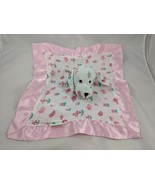 Lollypop Pink Dog Lovey Linen Security Blanket Birds Flowers Stuffed Ani... - $9.95