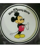 Walt Disney World Mickey Mouse Metal Plate Tin Display Dish Tray VTG Sou... - $16.15 CAD