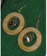 American Made!  Handcraft Wood Earrings / Ring Around the Jingle Bell! - $15.95