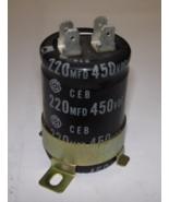 Capacitor 220 MFD 450VDC - $2.50