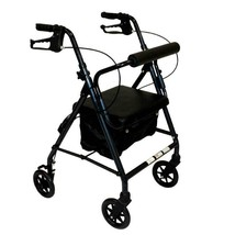 Z600J Junior Rollator With Padded Seat/ Backrest Zippered Compartment Under Seat - $93.70